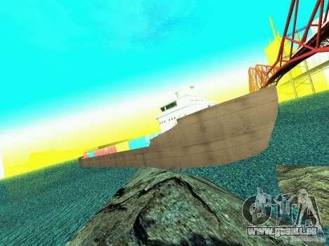 Drivable Cargoship pour GTA San Andreas deuxième écran