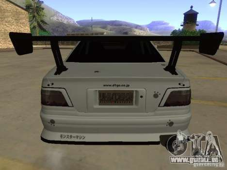 Toyota Chaser JZX100 Tuning by TCW pour GTA San Andreas vue de dessous