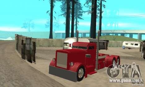 Peterbilt Coupe pour GTA San Andreas laissé vue