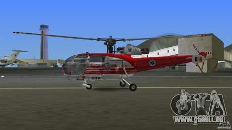 IAR 316B Alouette III SMURD für GTA Vice City zurück linke Ansicht