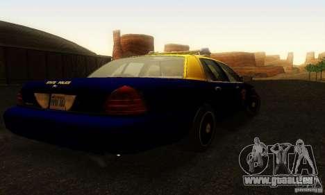Ford Crown Victoria West Virginia Police pour GTA San Andreas laissé vue