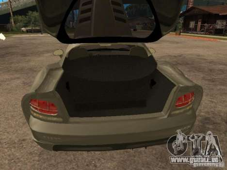 Dodge Viper Coupe 2008 für GTA San Andreas Rückansicht