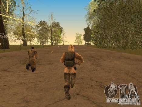 Haut-Narbe von einem stalker für GTA San Andreas her Screenshot
