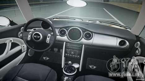 Mini Cooper S für GTA 4 obere Ansicht