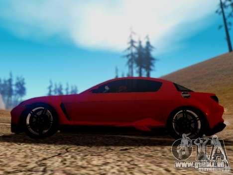 Mazda RX8 Reventon für GTA San Andreas Unteransicht