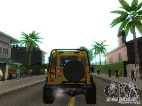 Land Rover Defender Off-Road pour GTA San Andreas vue de droite