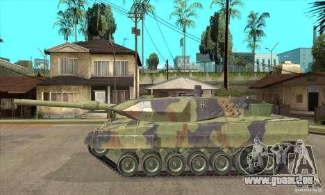 Leopard 2 A6 pour GTA San Andreas laissé vue