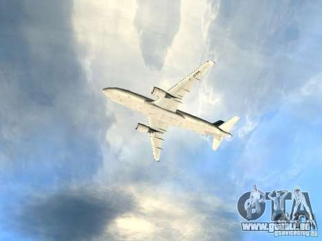 Airbus A320 Air France pour GTA San Andreas vue de dessus