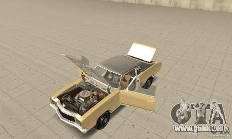 Chevy Monte Carlo [F&F3] für GTA San Andreas Rückansicht