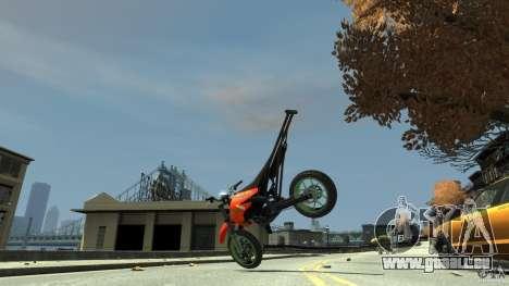 Stunt Supermotard Sanchez für GTA 4 Innenansicht