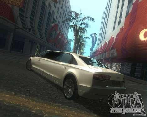Audi A8 2011 Limo für GTA San Andreas Seitenansicht