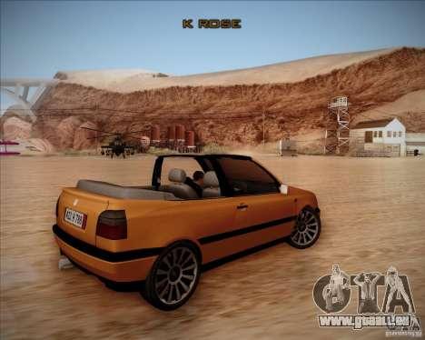 Volkswagen Golf MkIII Cabrio Custom 1995 pour GTA San Andreas vue de droite