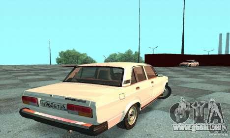 VAZ 2107 v. 3 für GTA San Andreas zurück linke Ansicht