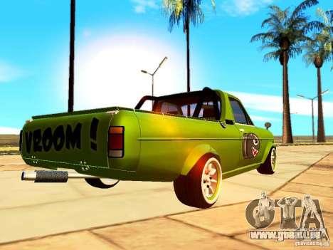 Nissan Sunny K Truck FISH ART pour GTA San Andreas sur la vue arrière gauche