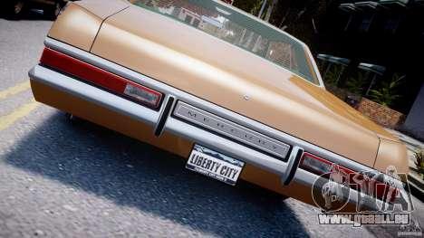 Mercury Monterey 2DR 1972 für GTA 4 obere Ansicht
