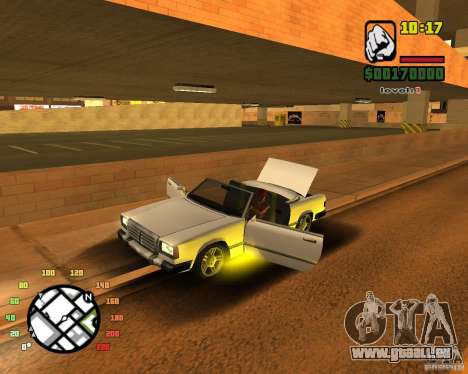 Extreme Car Mod SA:MP version pour GTA San Andreas deuxième écran