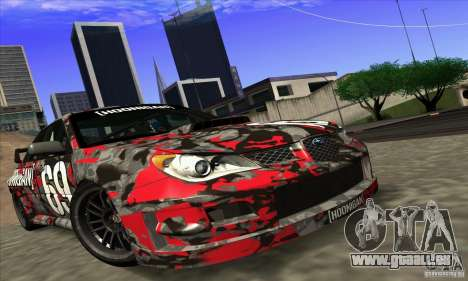 Subaru Impreza WRX STi Gymkhana pour GTA San Andreas sur la vue arrière gauche