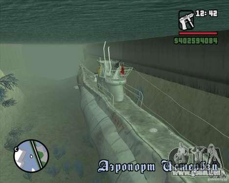 U99 German Submarine für GTA San Andreas zweiten Screenshot