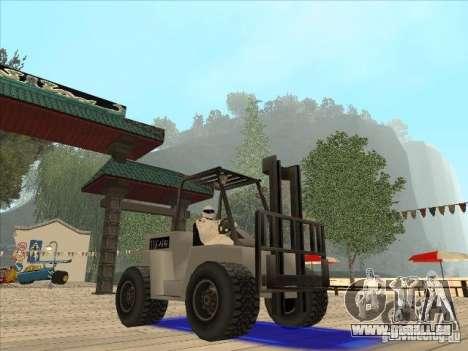 Forklift extreem v2 für GTA San Andreas rechten Ansicht