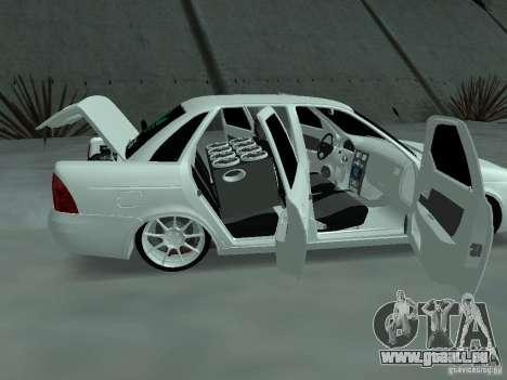 Lada Priora Adidas pour GTA San Andreas vue intérieure