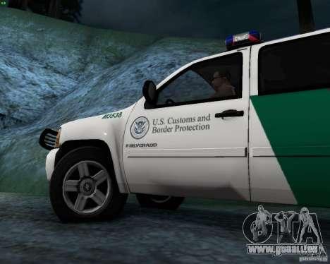 Chevrolet Silverado Police pour GTA San Andreas vue intérieure