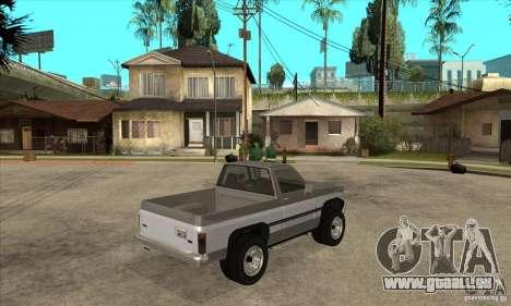 Ford Ranger für GTA San Andreas Rückansicht