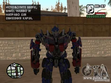 Optimus Prime pour GTA San Andreas