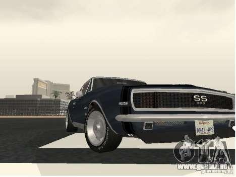 Chevrolet Camaro SS 396 Turbo-Jet für GTA San Andreas zurück linke Ansicht