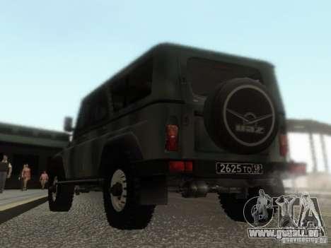 UAZ-3153 für GTA San Andreas zurück linke Ansicht