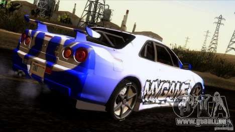Nissan Skyline R34 Drift für GTA San Andreas