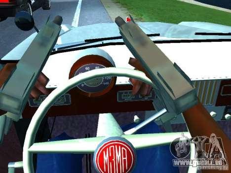 Moskvitsch 403 mit der Polizei für GTA San Andreas Seitenansicht