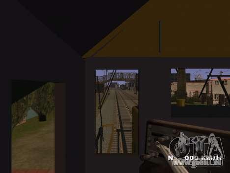 SD 40 UP BN Santa Fe pour GTA San Andreas vue intérieure