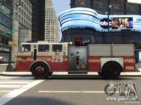 Fire Truck FDNY für GTA 4 Rückansicht