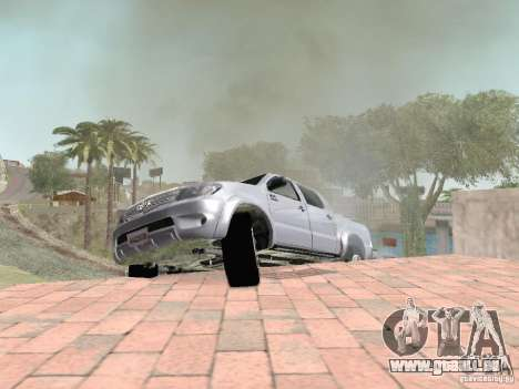 Toyota Hilux pour GTA San Andreas vue de dessus