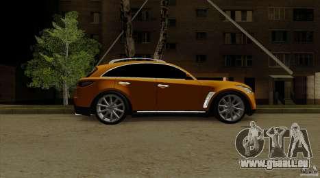 Infiniti FX37 v1 für GTA San Andreas zurück linke Ansicht