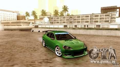 Acura RSX Spoon Sports pour GTA San Andreas vue de dessus