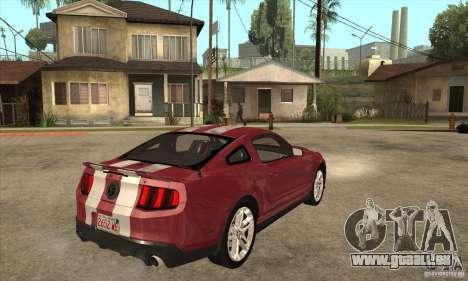 Shelby GT500 2010 pour GTA San Andreas vue de droite