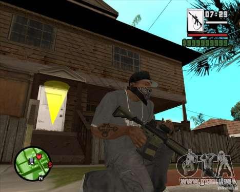 HQ M4A1 - DMG MK11 pour GTA San Andreas troisième écran