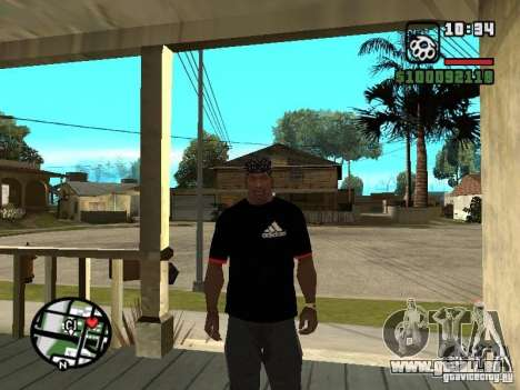 Rammstein t-shirt v3 pour GTA San Andreas deuxième écran