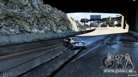 Audi R8 Spider 2011 pour GTA 4 est une vue de dessous