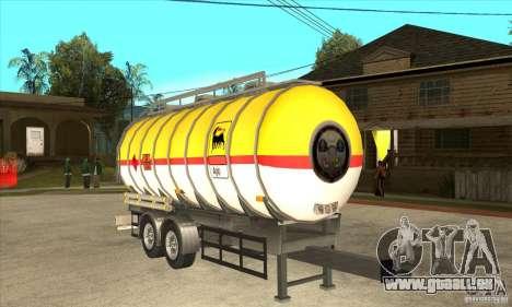 Trailer Tunk pour GTA San Andreas vue arrière