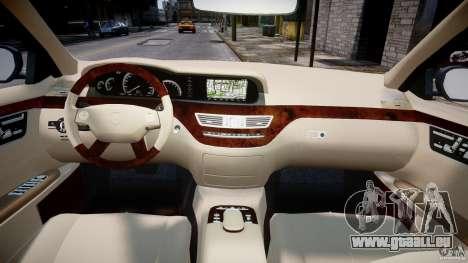 Mercedes-Benz S-Class 2007 für GTA 4 Unteransicht