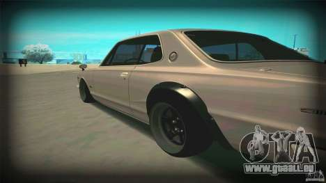 Nissan Skyline 2000GT-R JDM Style pour GTA San Andreas sur la vue arrière gauche