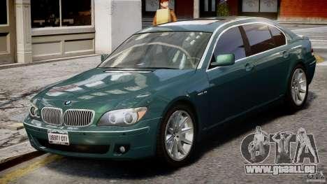 BMW 7 Series E66 pour GTA 4 est une vue de l'intérieur