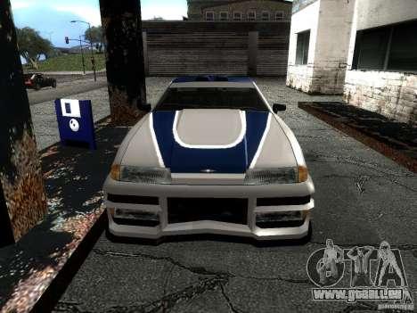 Vinyle avec la BMW M3 GTR dans Most Wanted pour GTA San Andreas vue de droite