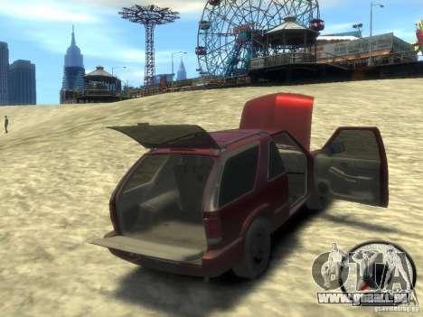 Chevrolet Blazer LS 2dr 4x4 für GTA 4 Seitenansicht