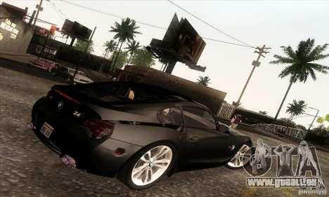 BMW Z4M für GTA San Andreas zurück linke Ansicht
