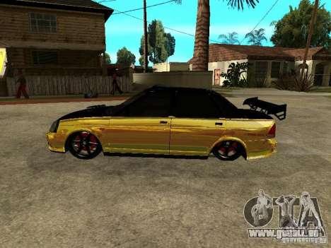 Lada 2170 Priora GOLD pour GTA San Andreas sur la vue arrière gauche
