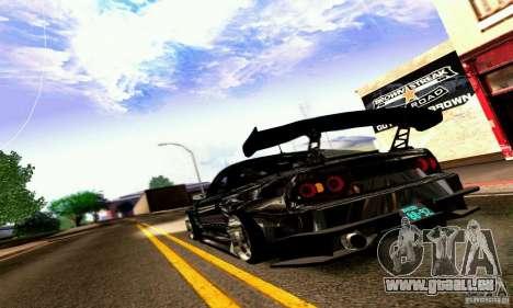 Nissan 180SX Gkon - Drift chrome pour GTA San Andreas vue de droite