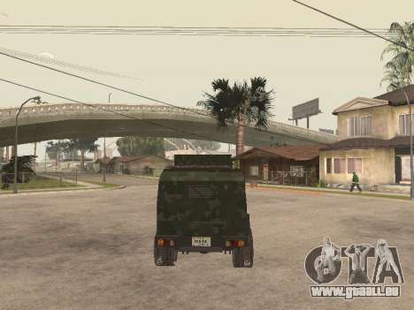 Oshkosh SandCat of Mexican Army pour GTA San Andreas vue arrière